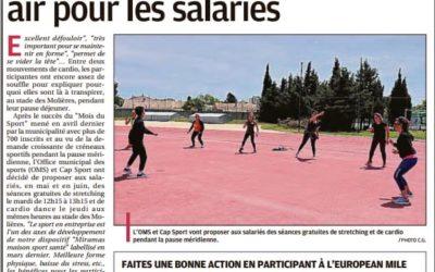 Du sport gratuit et en plein air pour les salariés